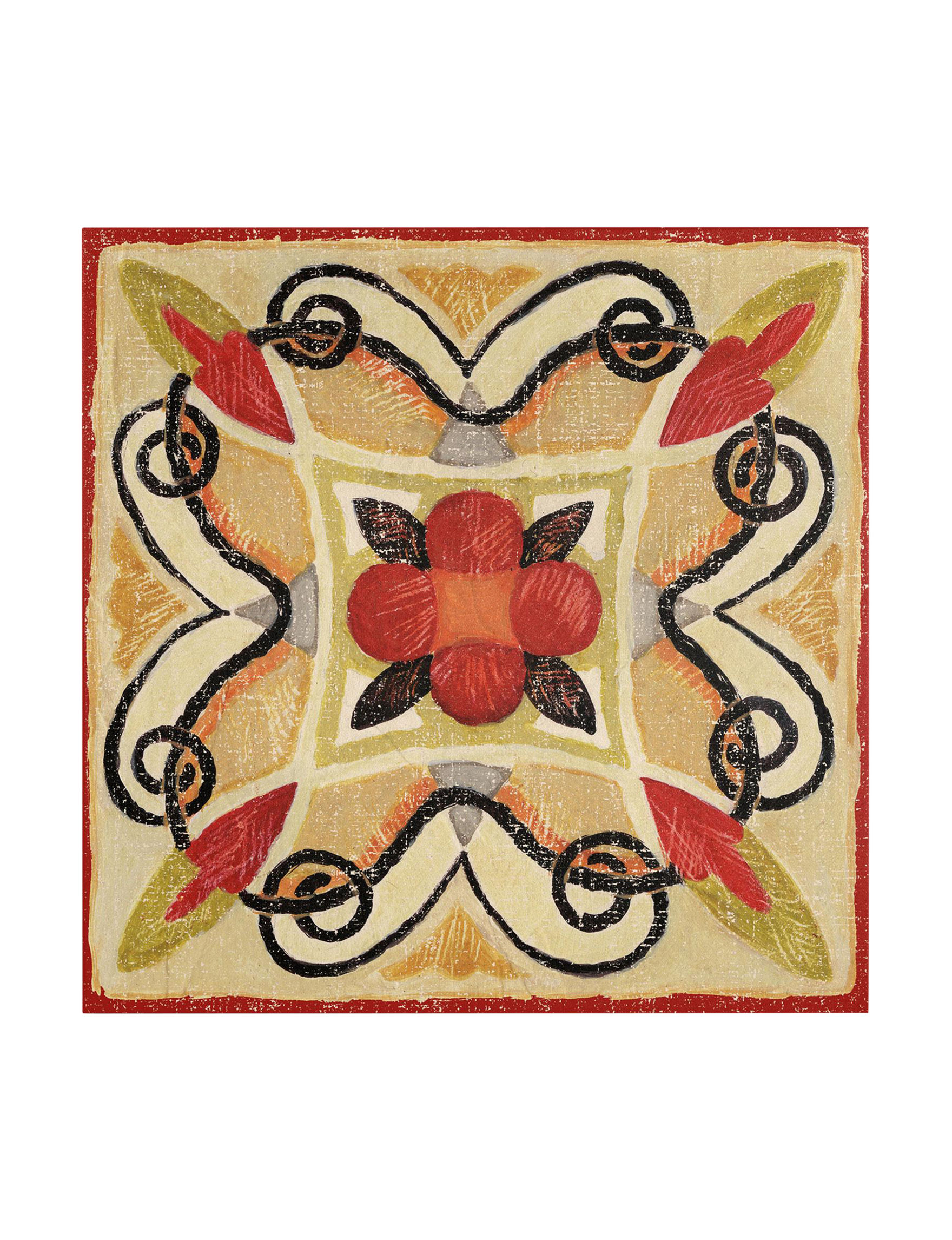 Trademark Fine Art Red Multi Wall Art Wall Decor