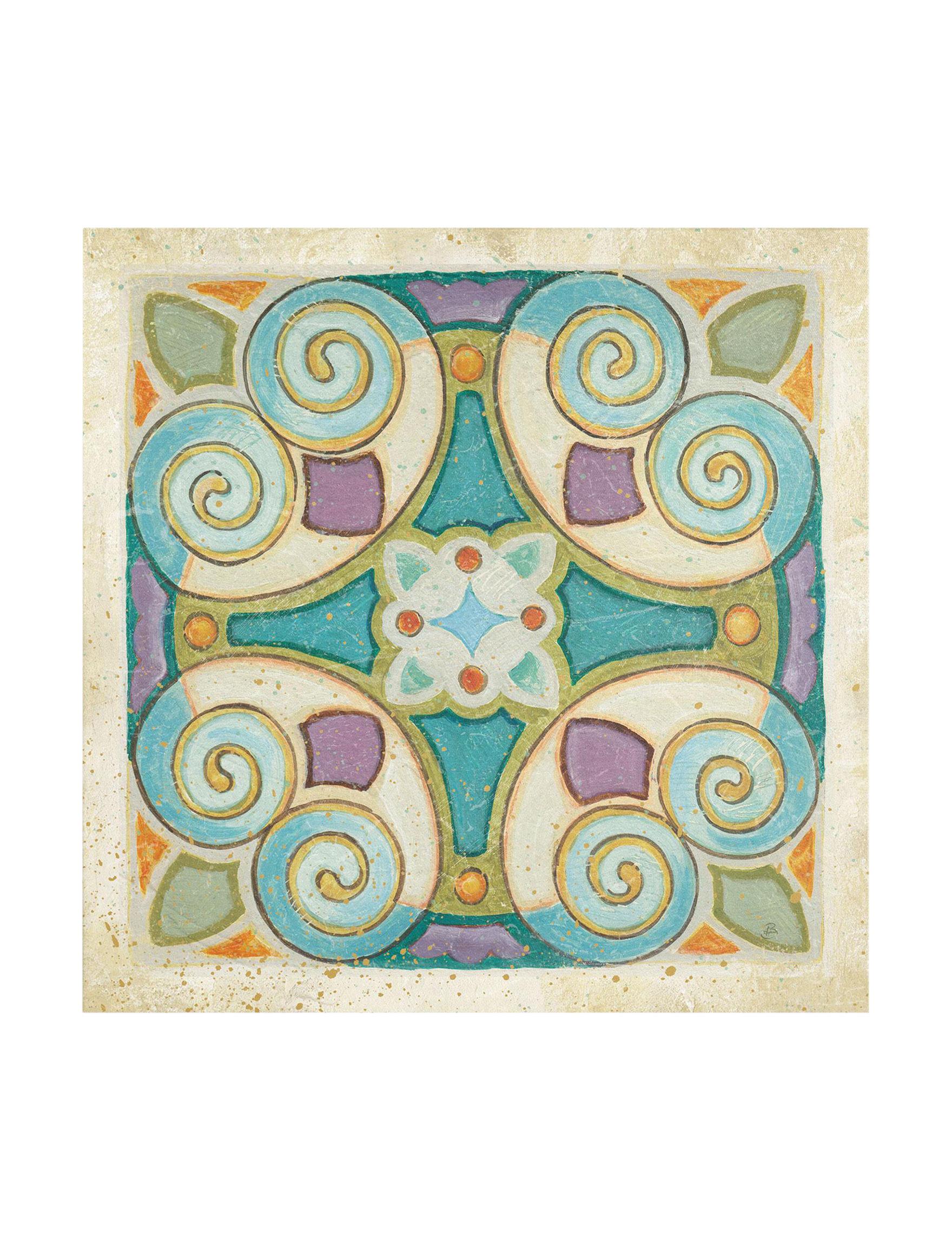 Trademark Fine Art Turquoise Multi Wall Art Wall Decor