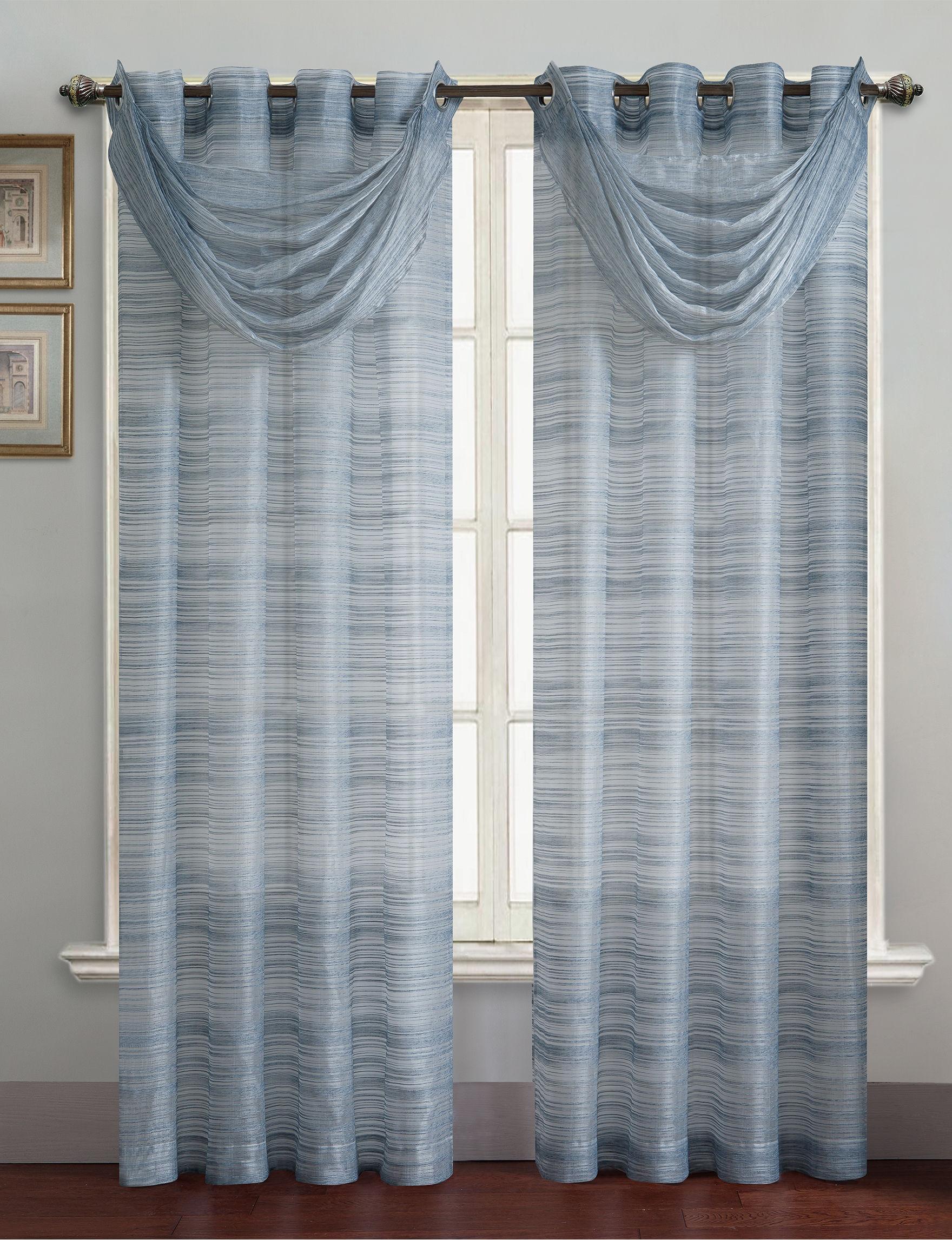 Victoria Classics Blue Curtains & Drapes Window Treatments