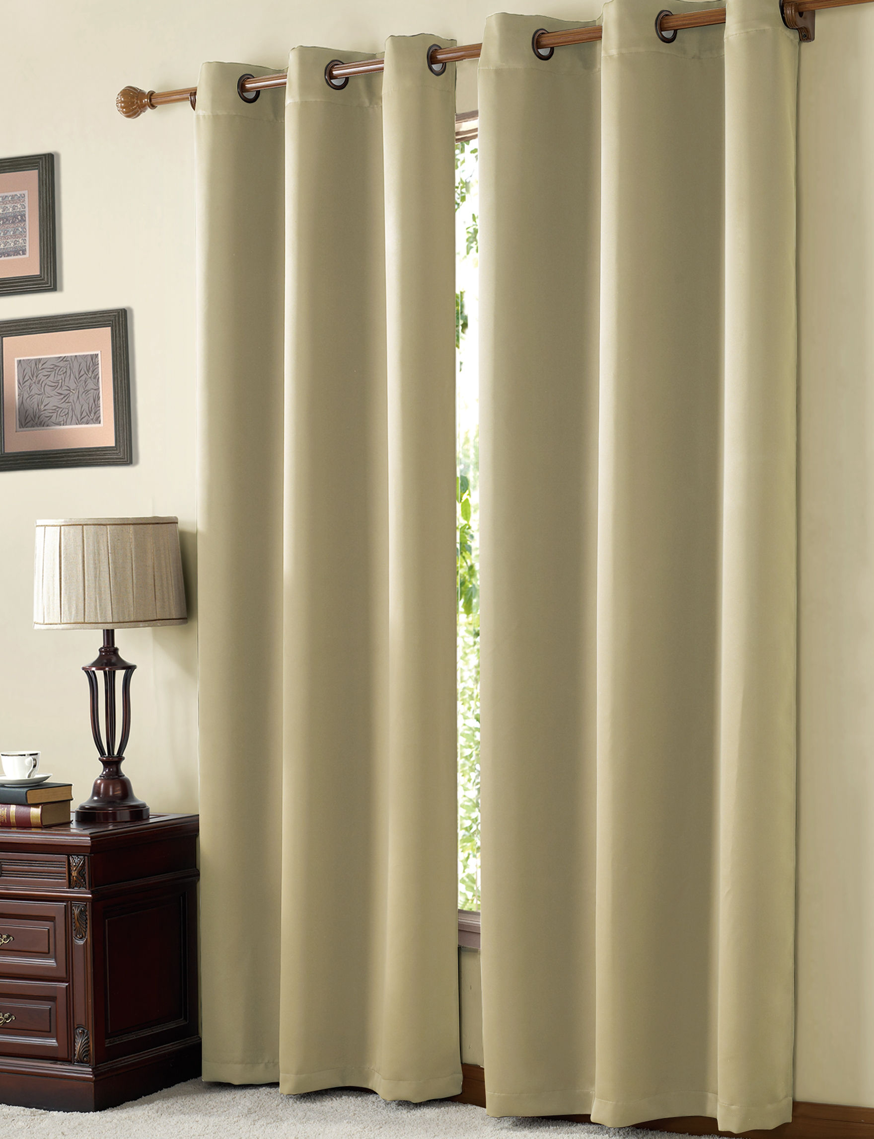 Victoria Classics Natural Curtains & Drapes Window Treatments