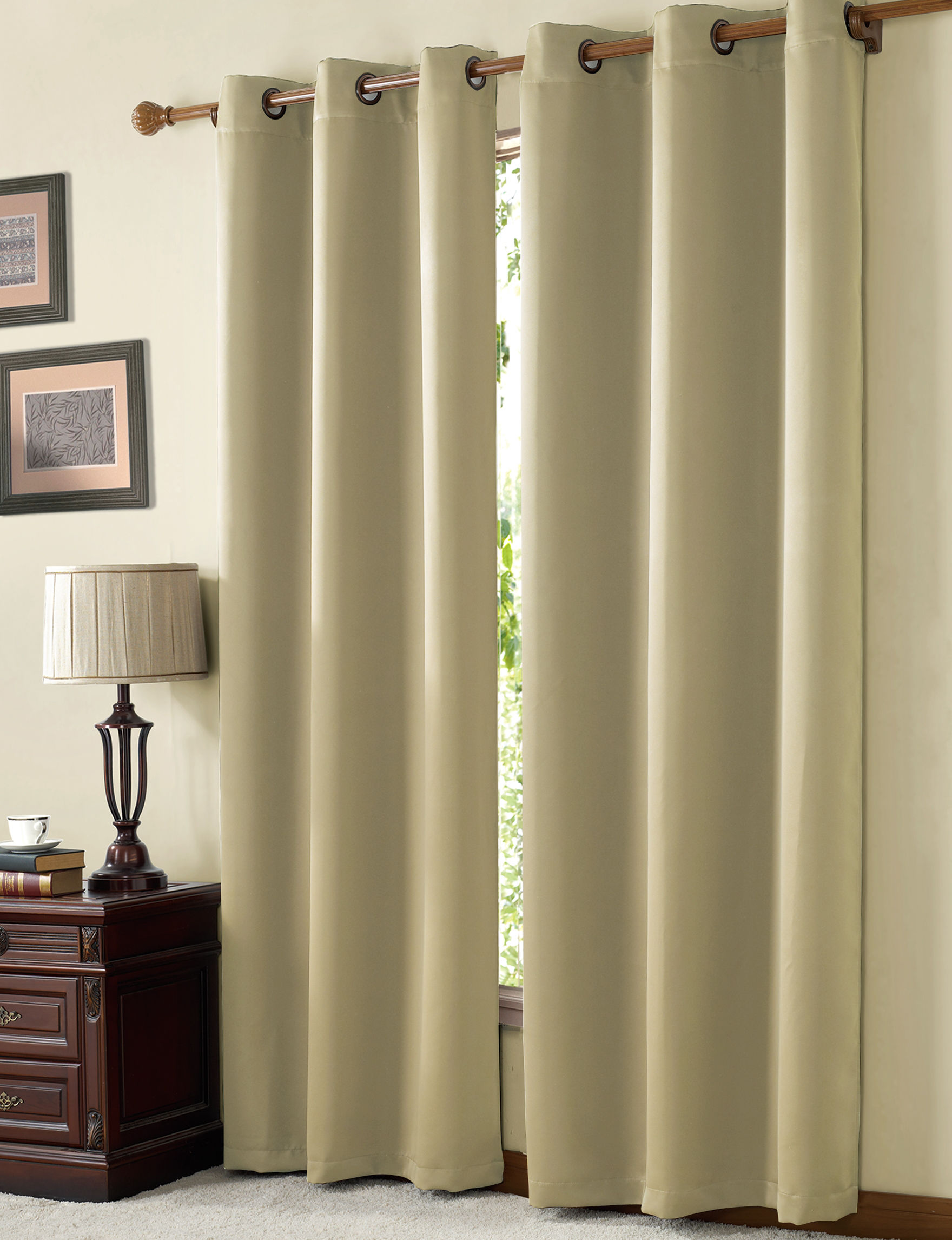 Victoria Classics Natural Curtains & Drapes Window Treatments