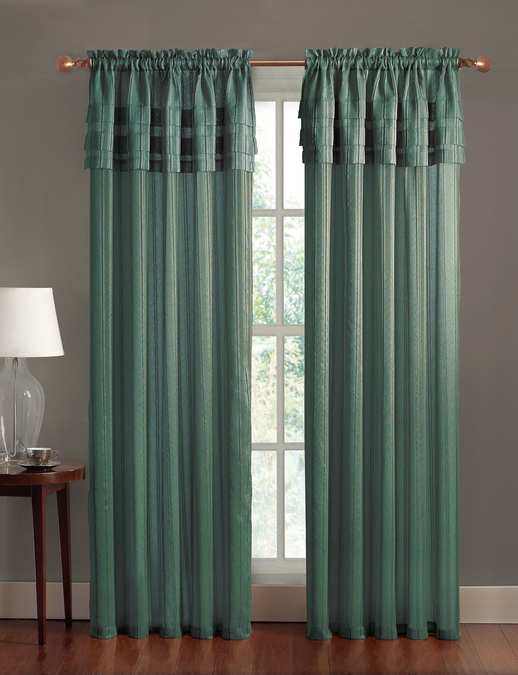 Victoria Classics Blue Curtains & Drapes Window Treatments