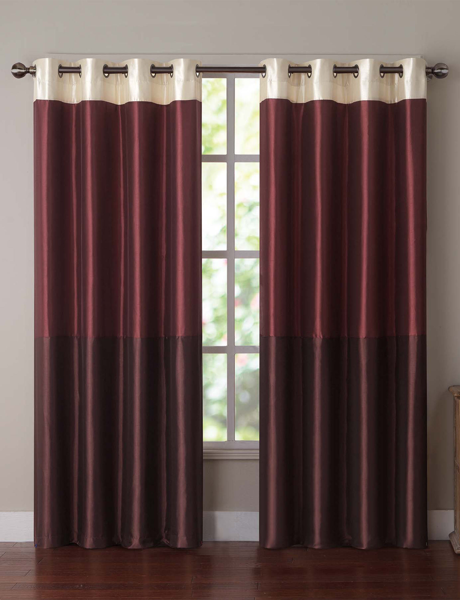 Victoria Classics Red Curtains & Drapes Window Treatments