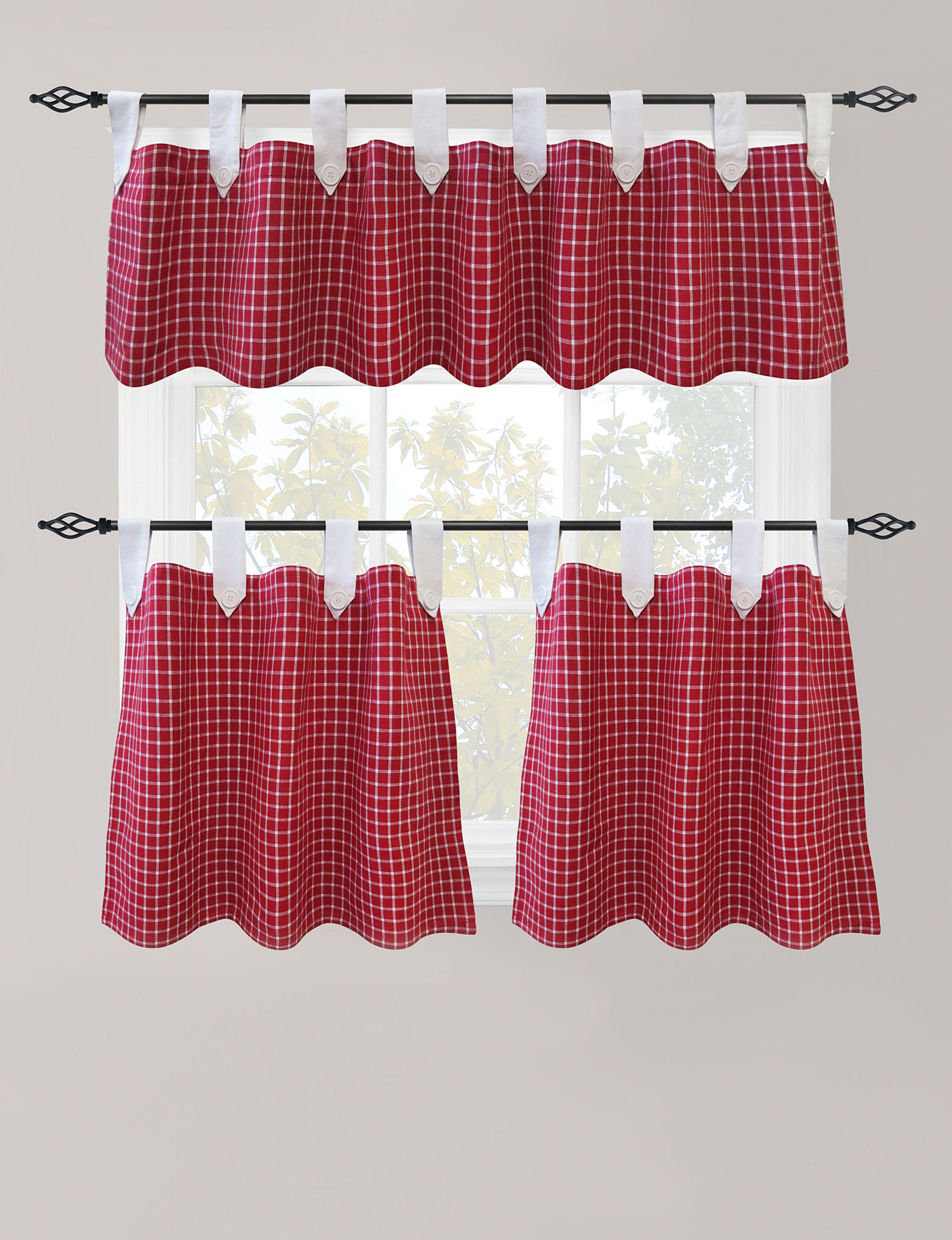Park B. Smith Red Curtains & Drapes Window Treatments