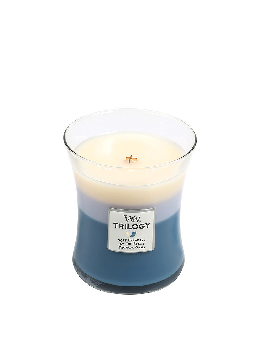 Woodwick Blue Candles Candles & Diffusers Home Accents