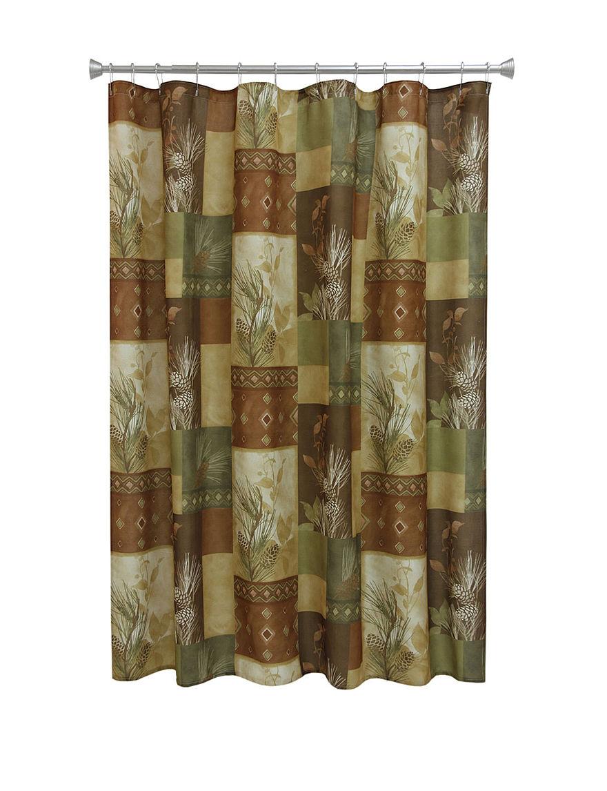 Bacova Guild Gold Shower Curtains & Hooks