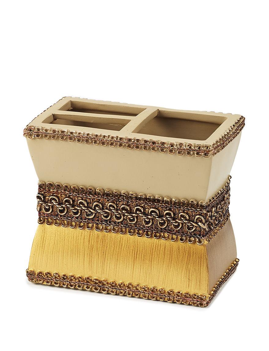 Avanti Beige Toothbrush Holders Bath Accessories
