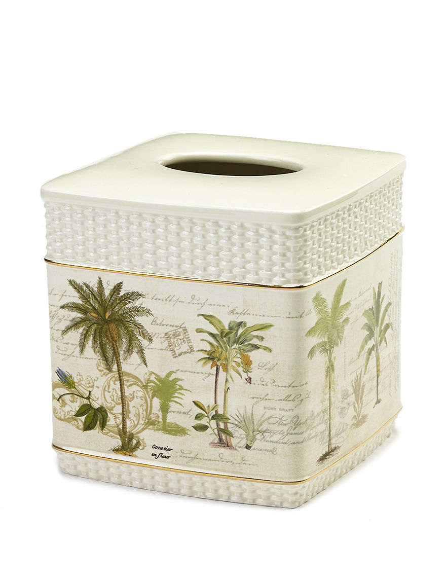 Avanti Ivory Tissue Box Covers Bath Accessories