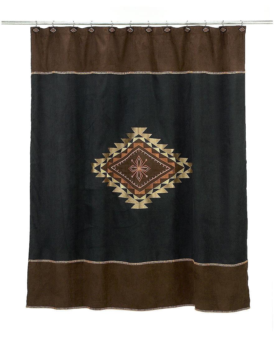 Avanti Black Shower Curtains & Hooks
