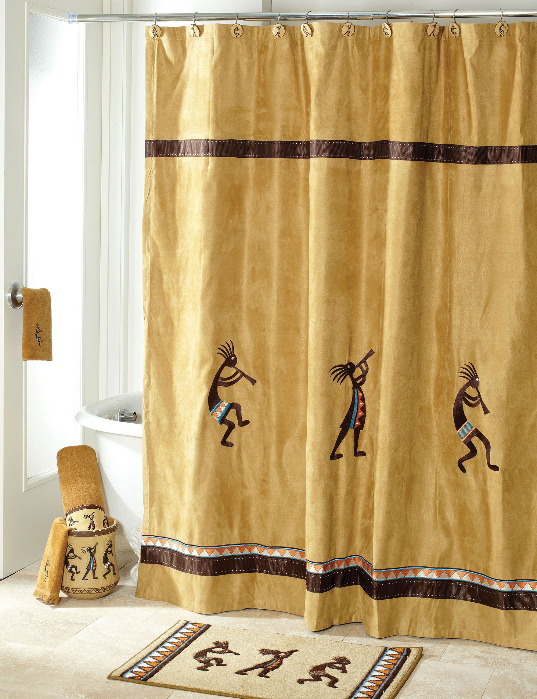 Avanti Gold Shower Curtains & Hooks
