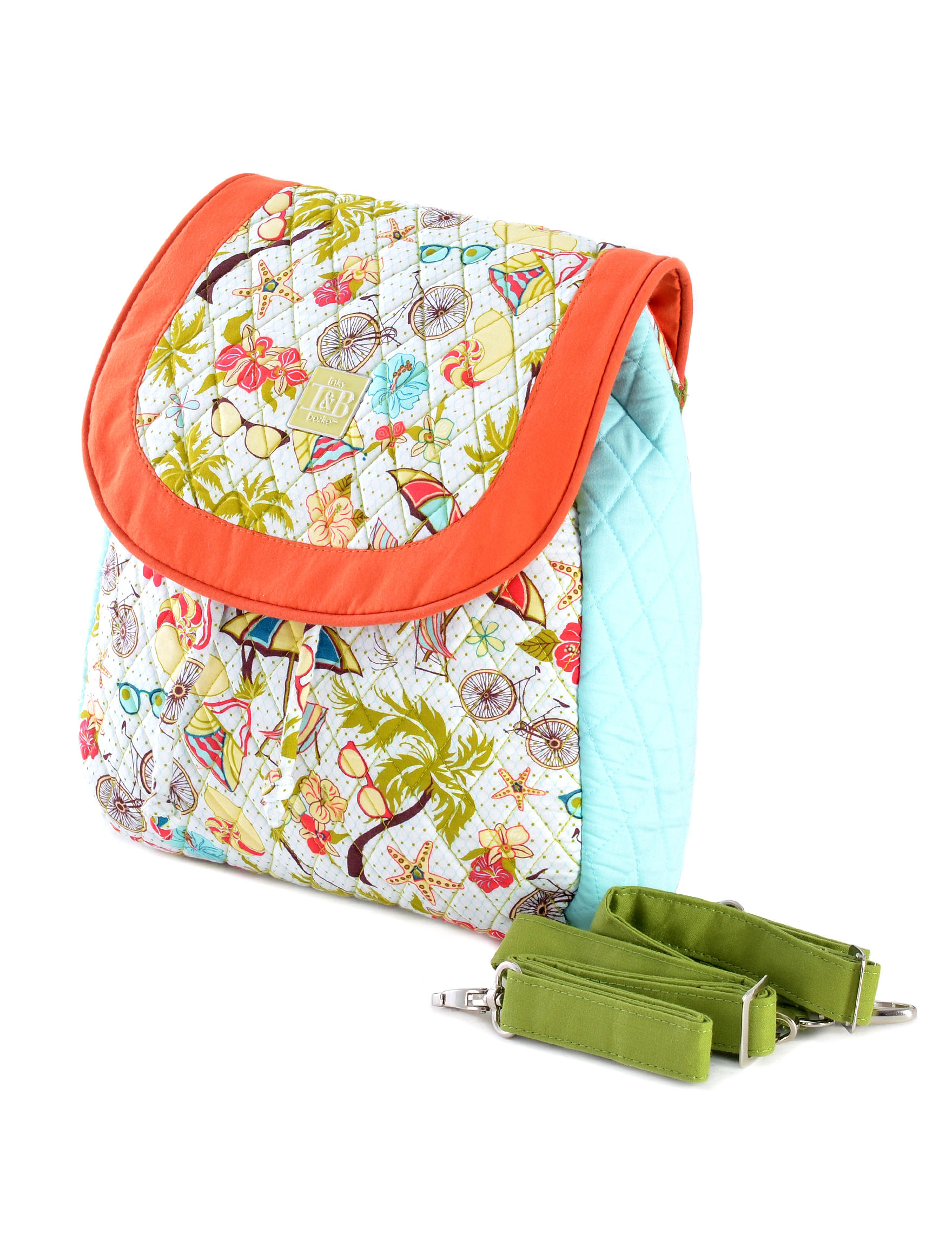 Inky & Bozko Orange Lunch Boxes & Bags Bookbags & Backpacks