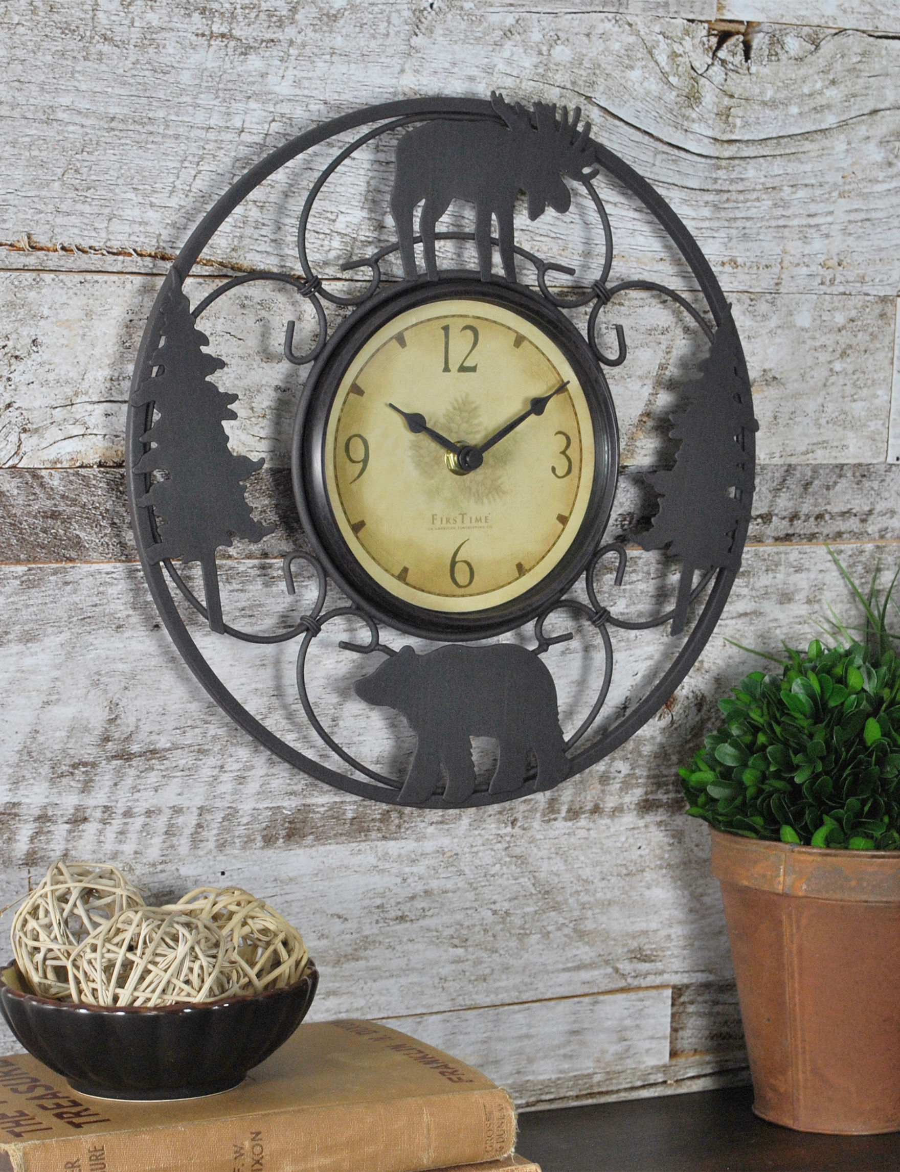 firstime wildfire wire wall clock stage stores