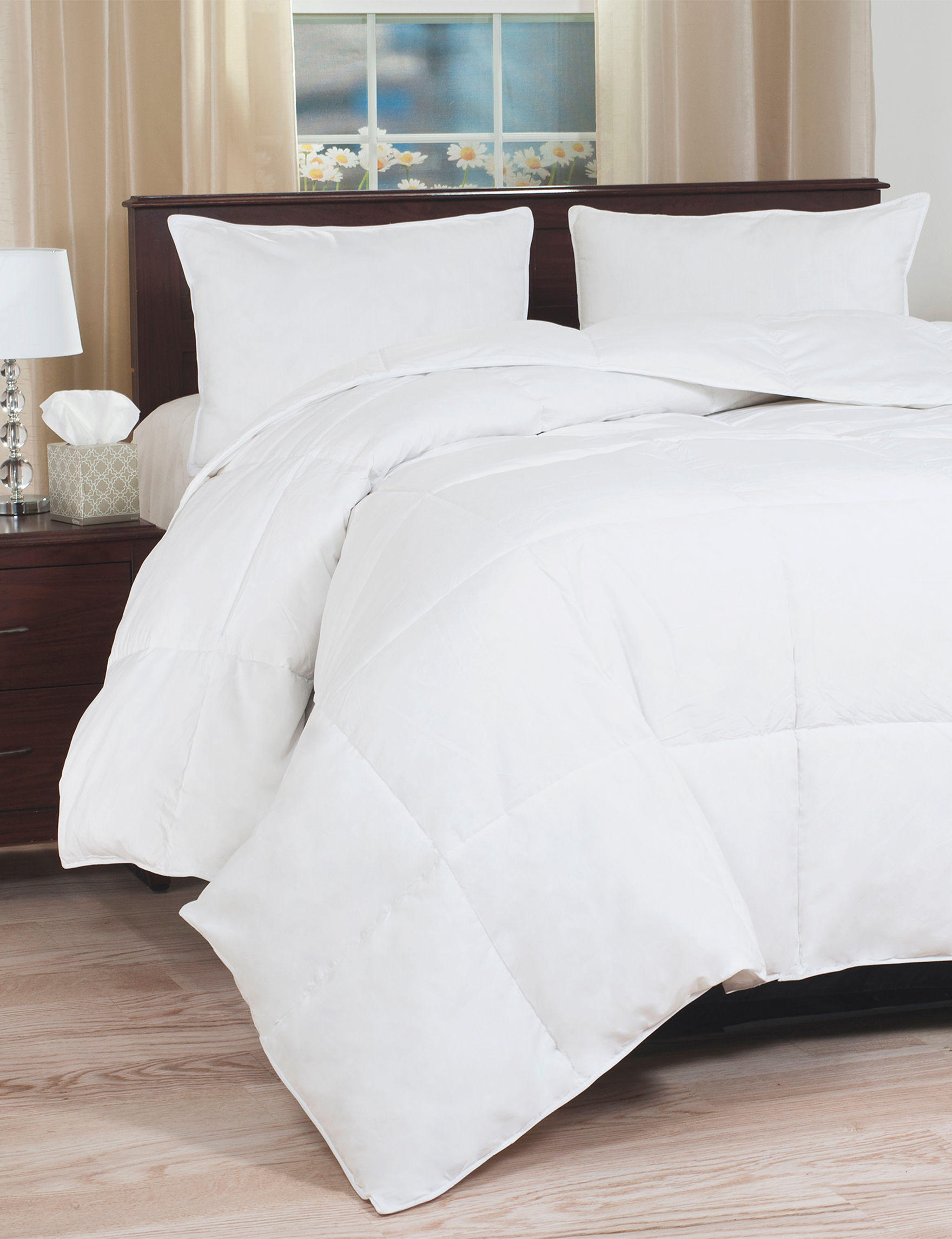 Lavish Home White Comforters & Comforter Sets