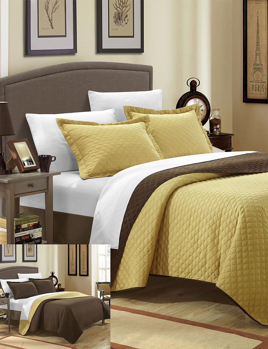 Chic Home Design Gold Quilts & Quilt Sets