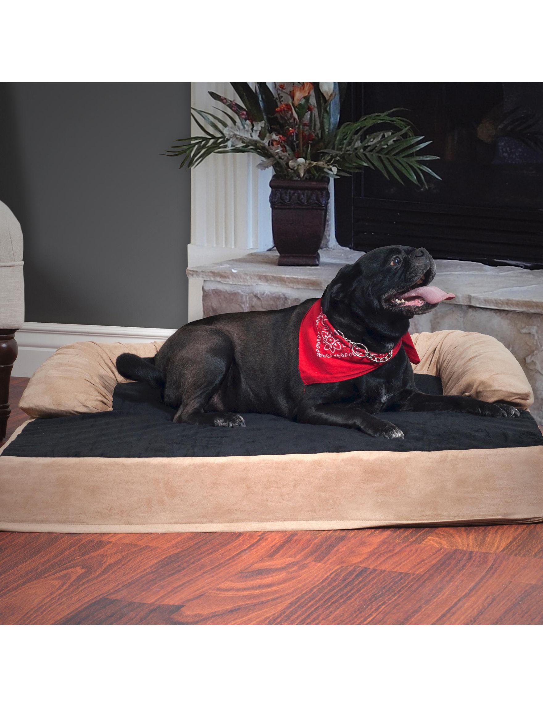 Paw Black / Beige Pet Beds & Houses