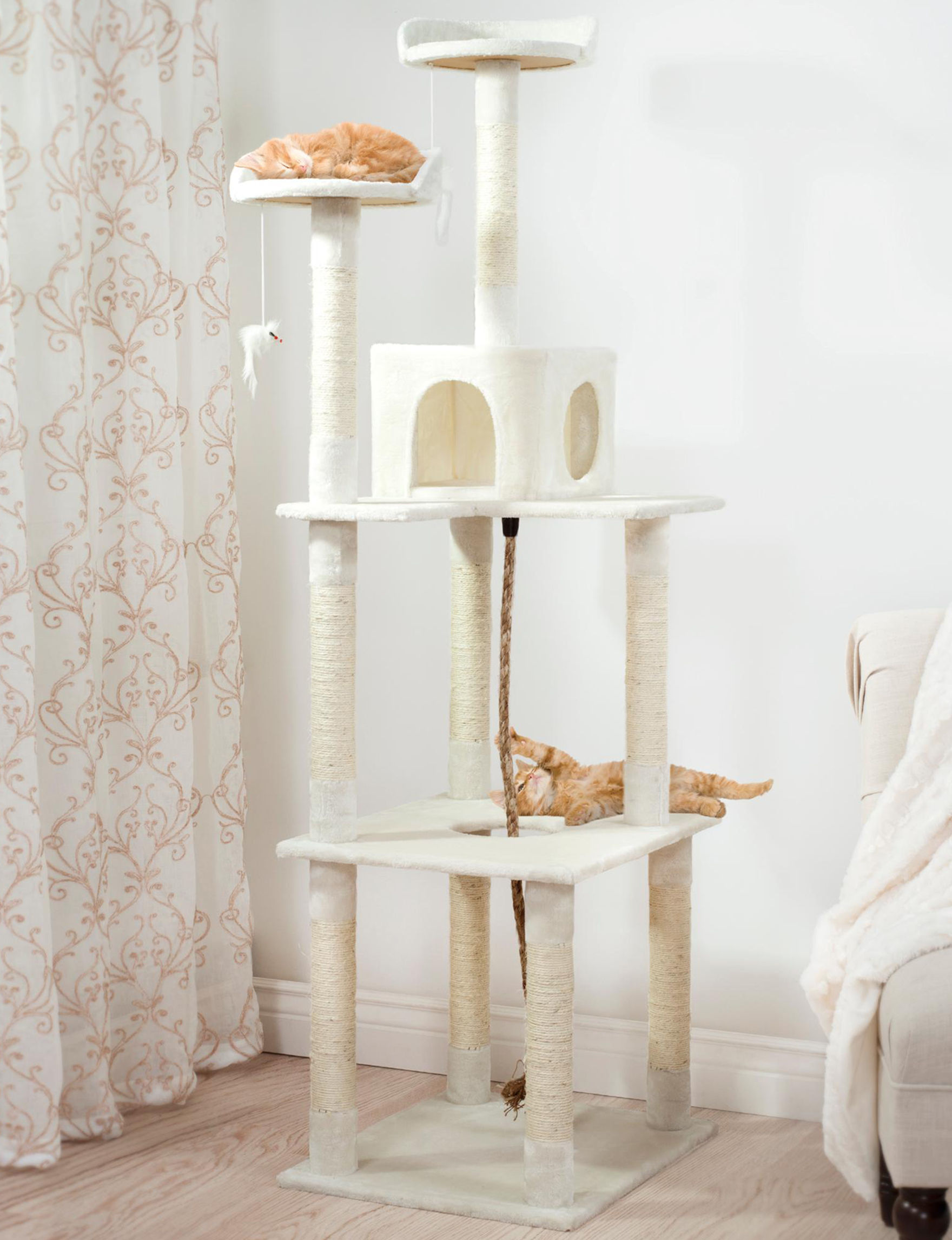 Paw White Pet Beds & Houses