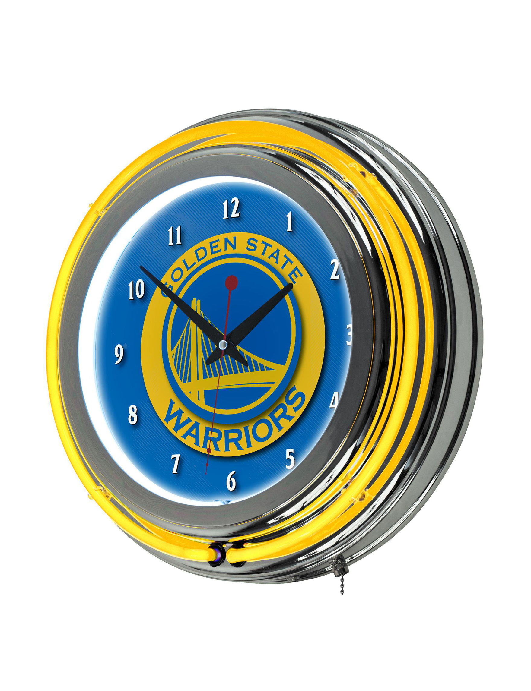NBA Blue / Yellow Home Accents Wall Art Home Accents Wall Decor