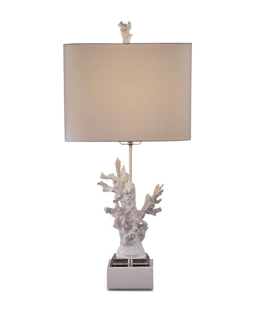 Bassett Mirror Co. High Gloss White Table Lamps Lighting & Lamps