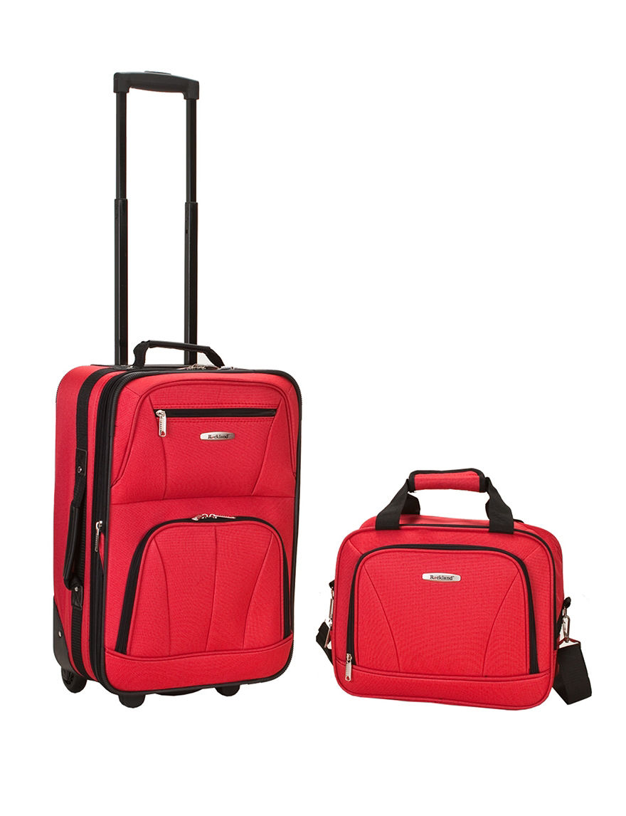 Rockland 2-pc. Solid Color Suitcase & Tote Set - Red - Rockland