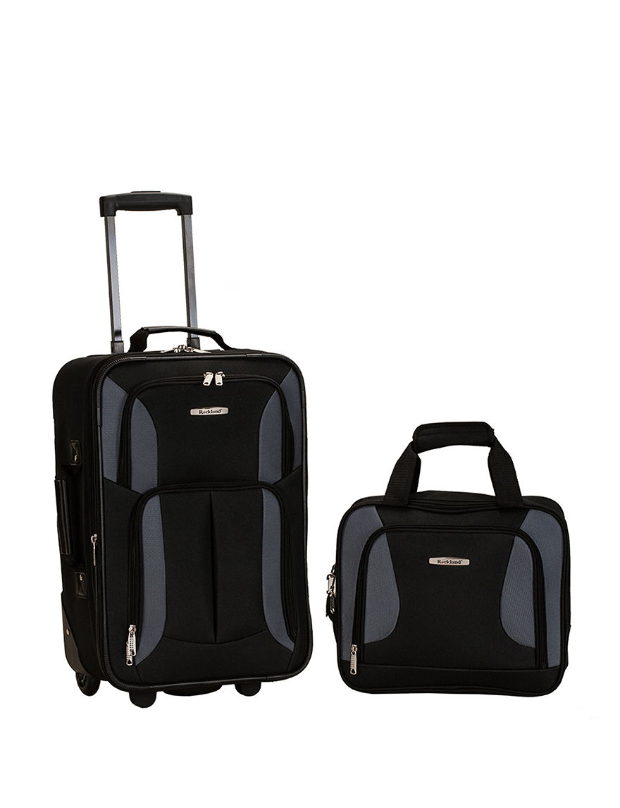 Rockland Black / Grey Luggage Sets