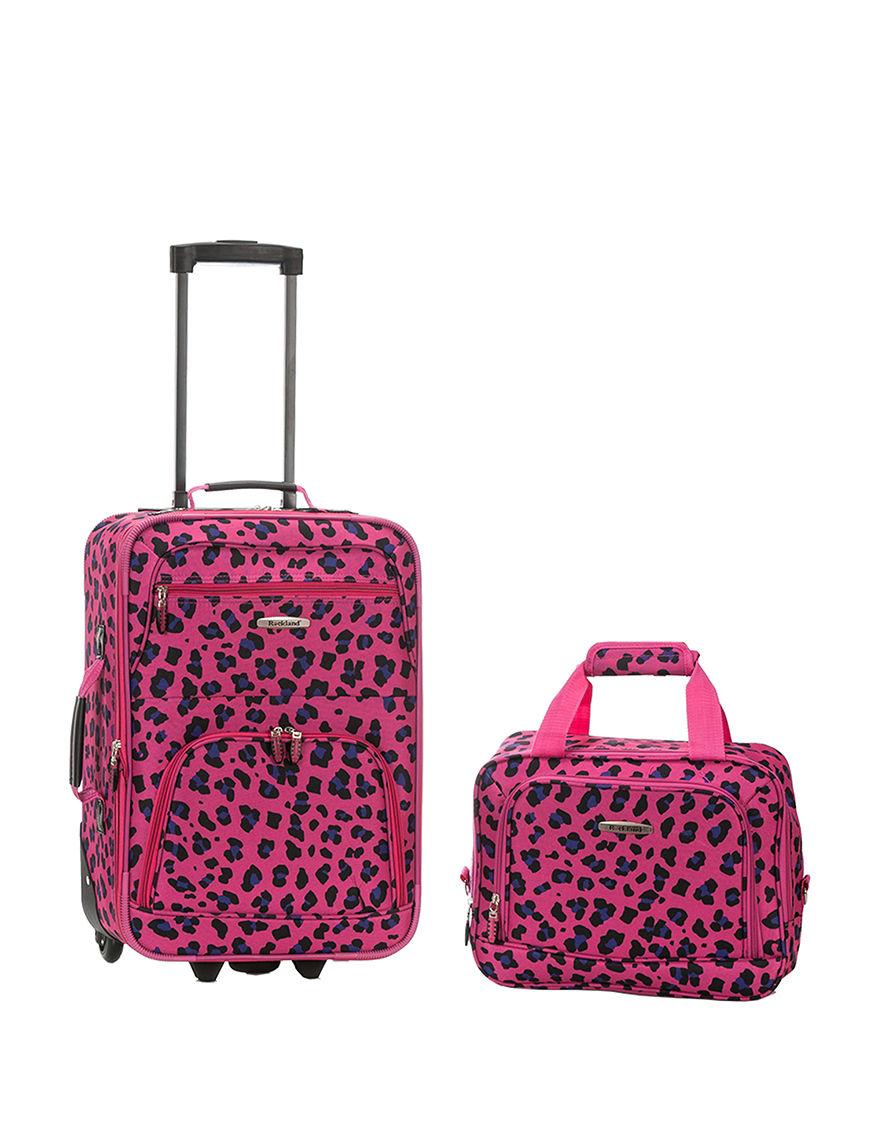 Rockland Magenta Luggage Sets