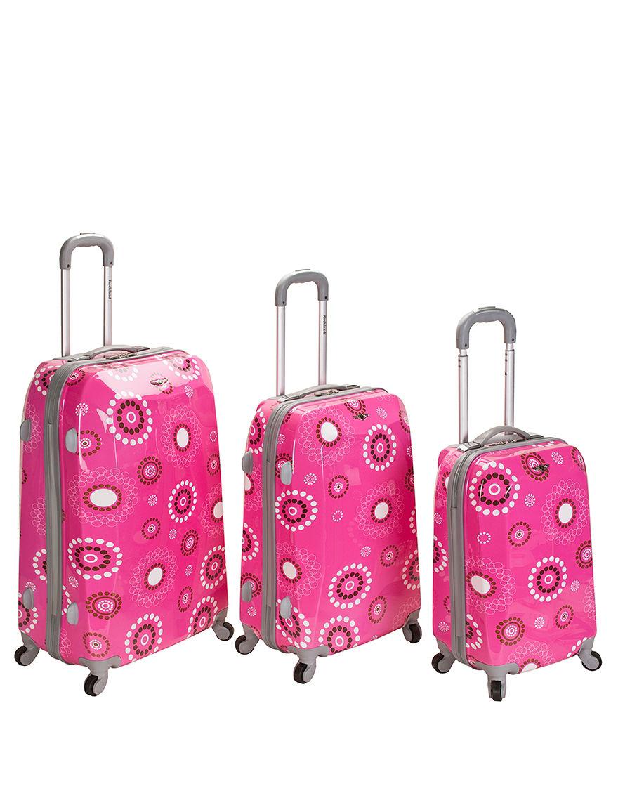 Rockland Pink Luggage Sets