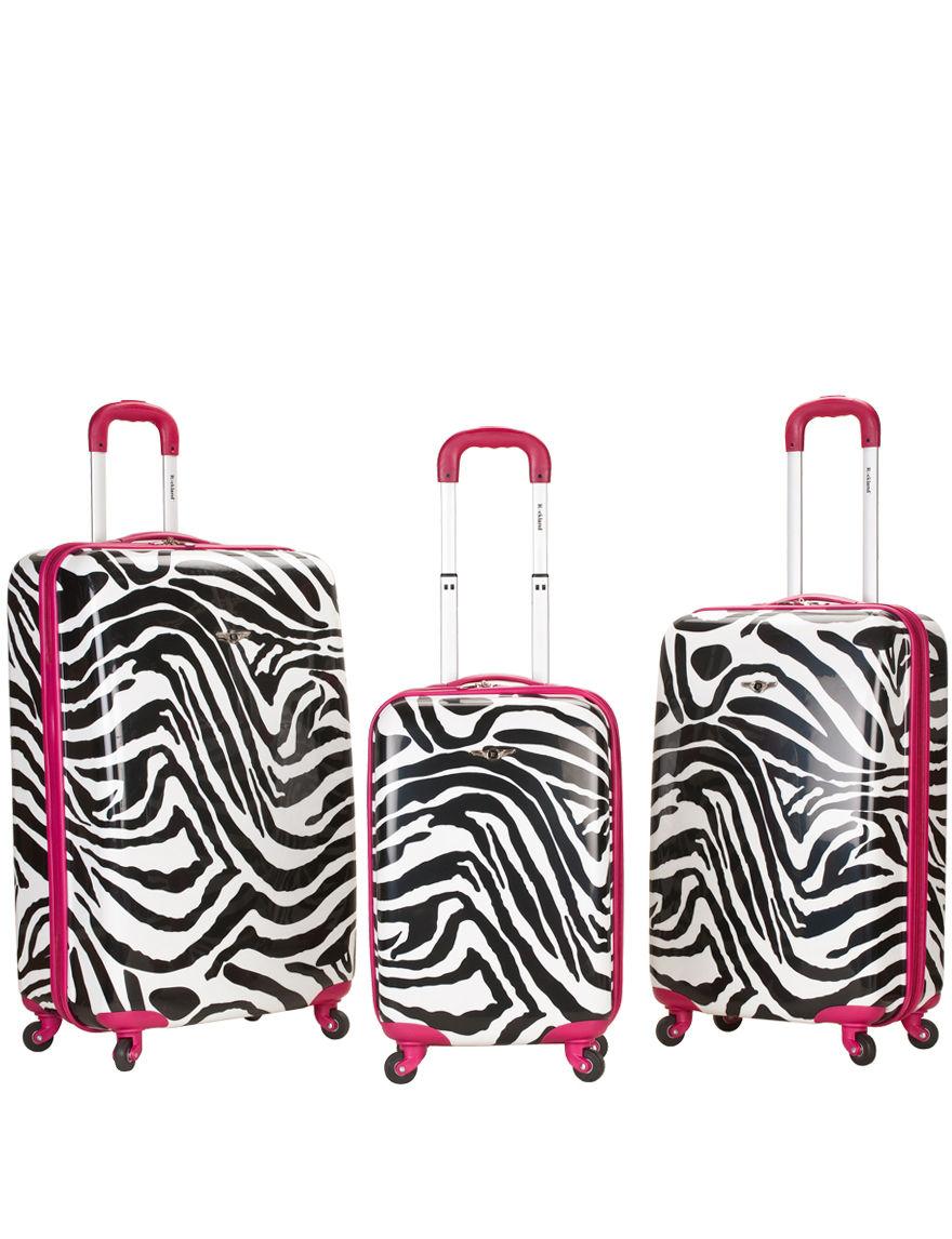 Rockland 3-pc. Zebra Print Hardside Luggage Set - Pink Zebra - Rockland