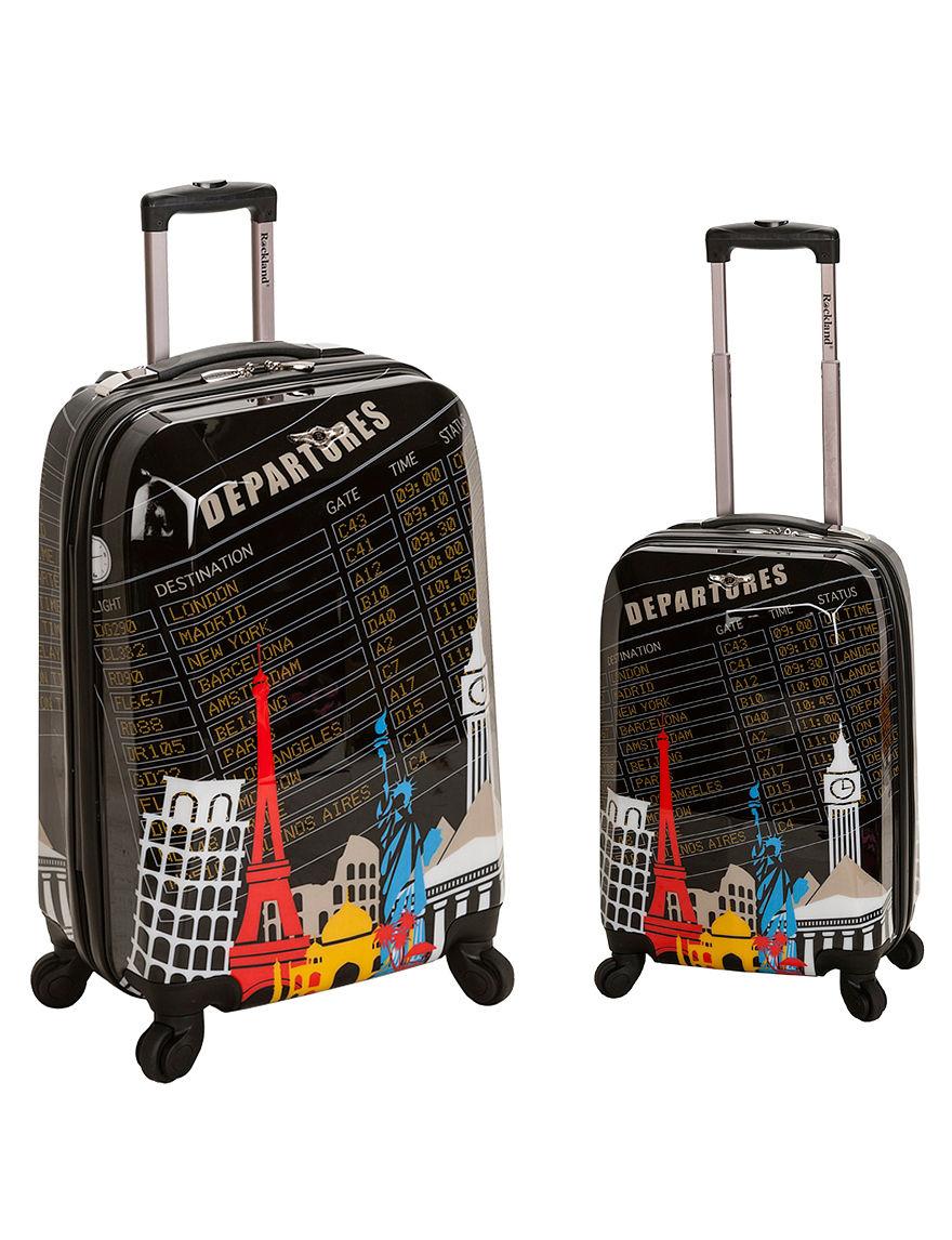 Rockland Black / Multi Luggage Sets
