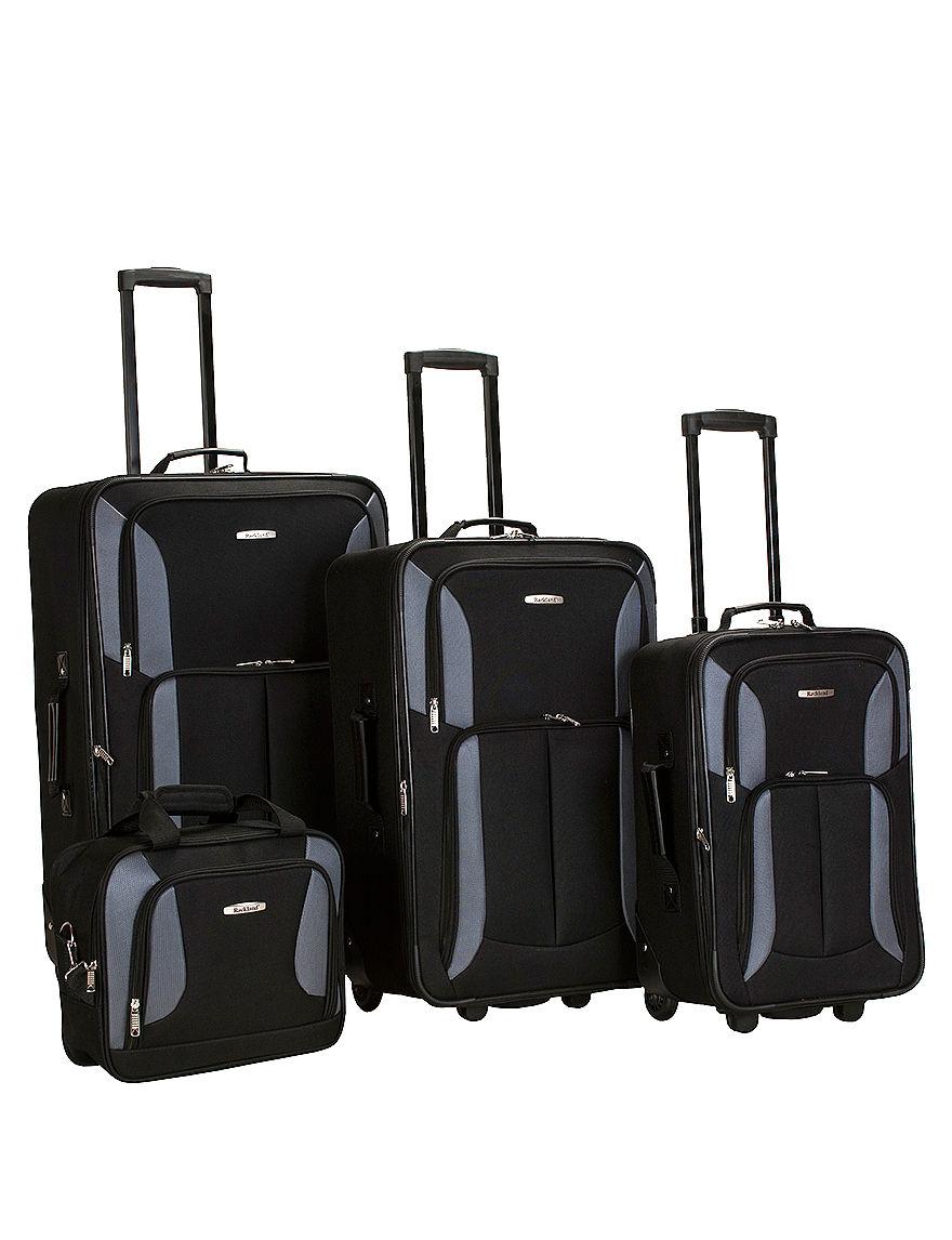 Rockland Black / Grey Luggage Sets