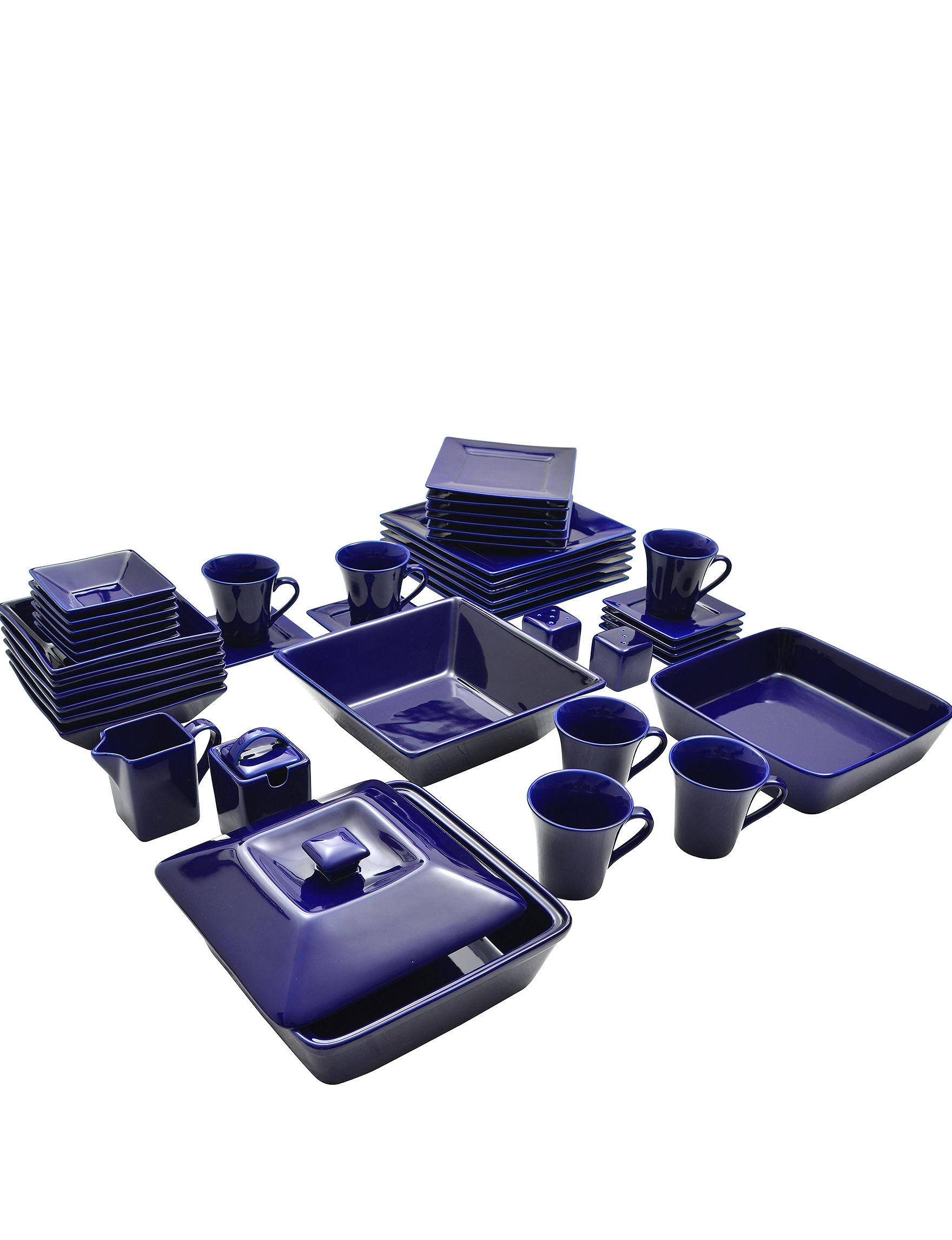 10 Strawberry Street Blue Dinnerware Sets Dinnerware