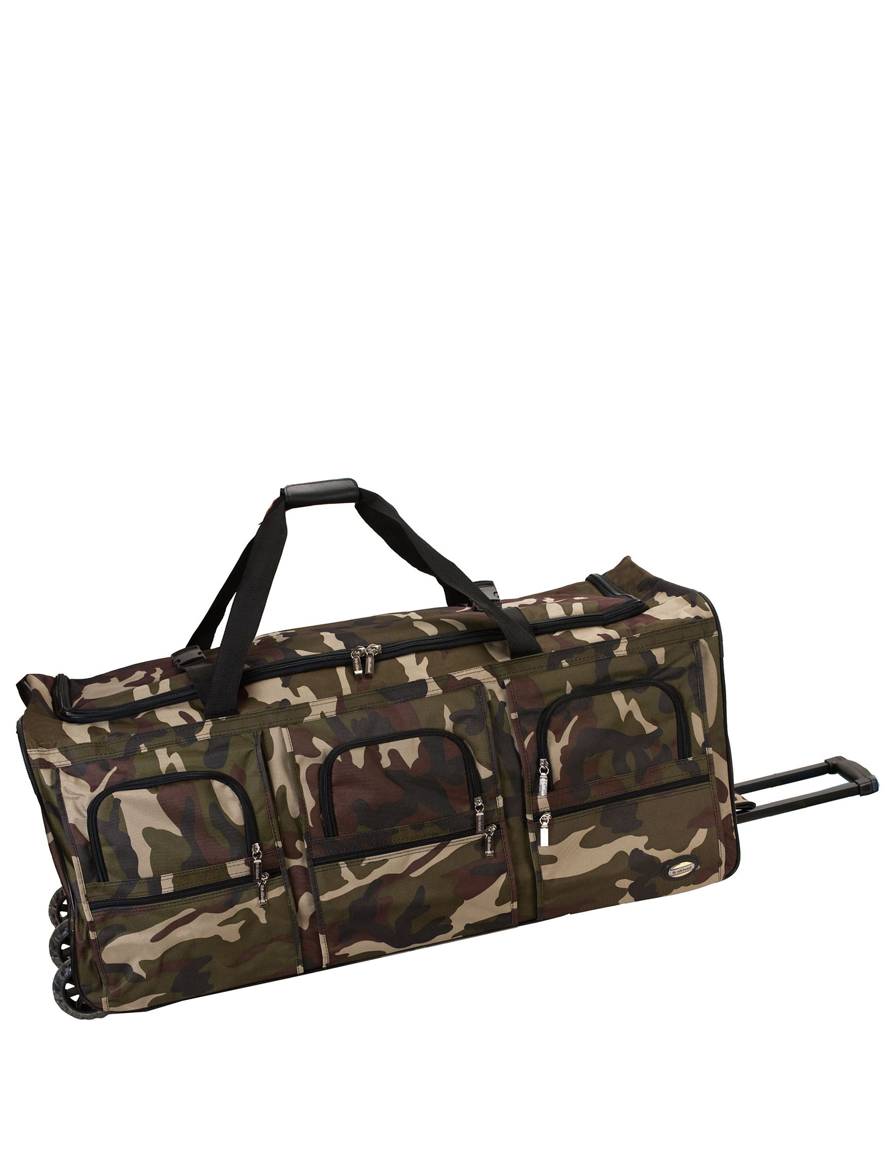 Rockland Green Camo Duffle Bags Upright Spinners