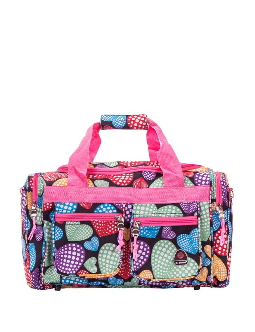 Rockland Pink Multi Weekend Bags