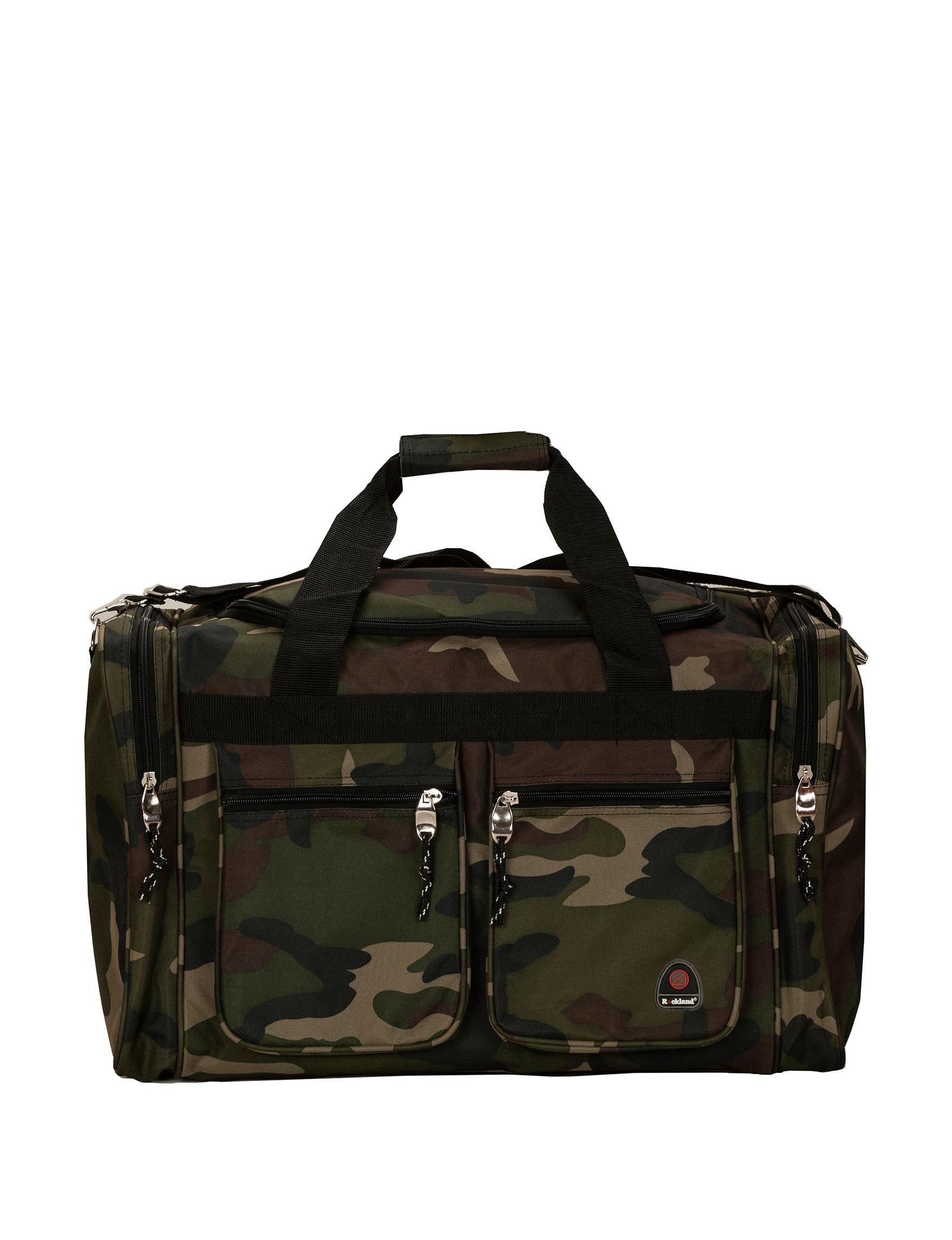Rockland Camo Weekend Bags