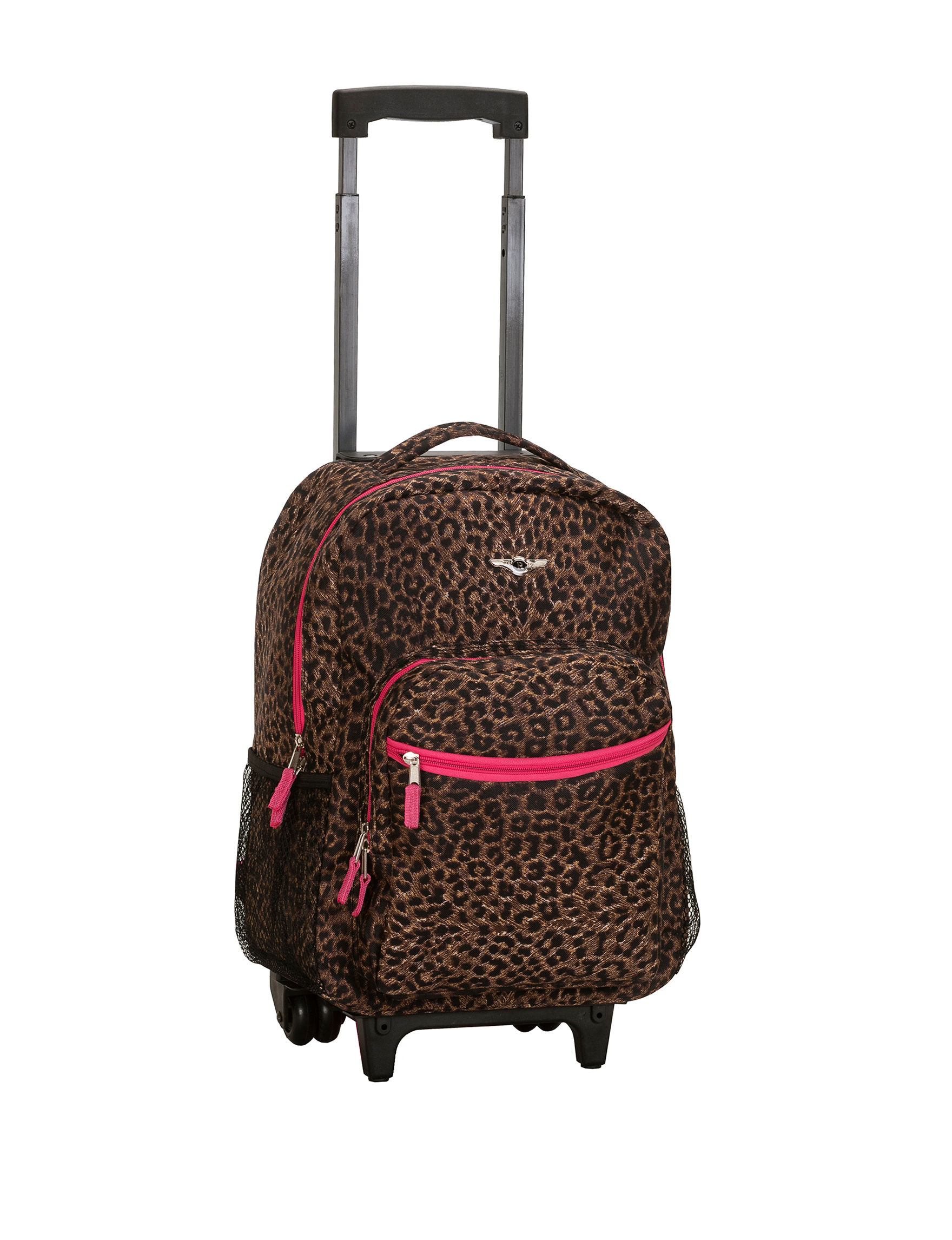 Rockland 17 Cheetah Print Rolling Backpack Stage Stores