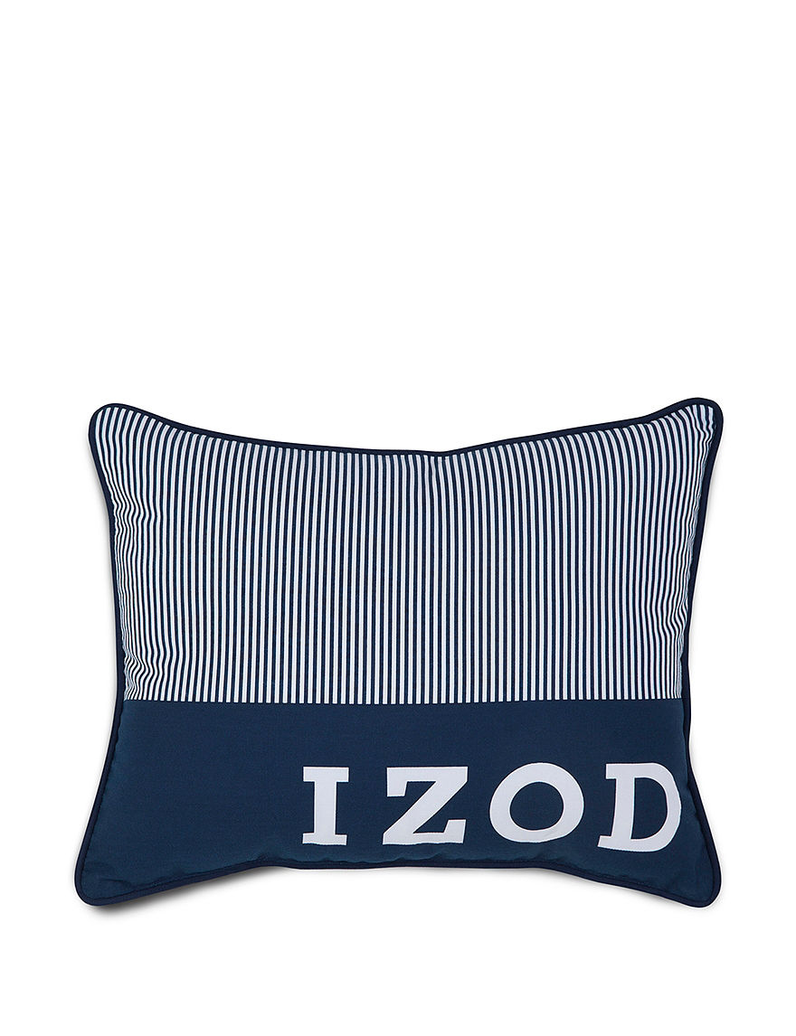Izod Blue Decorative Pillows