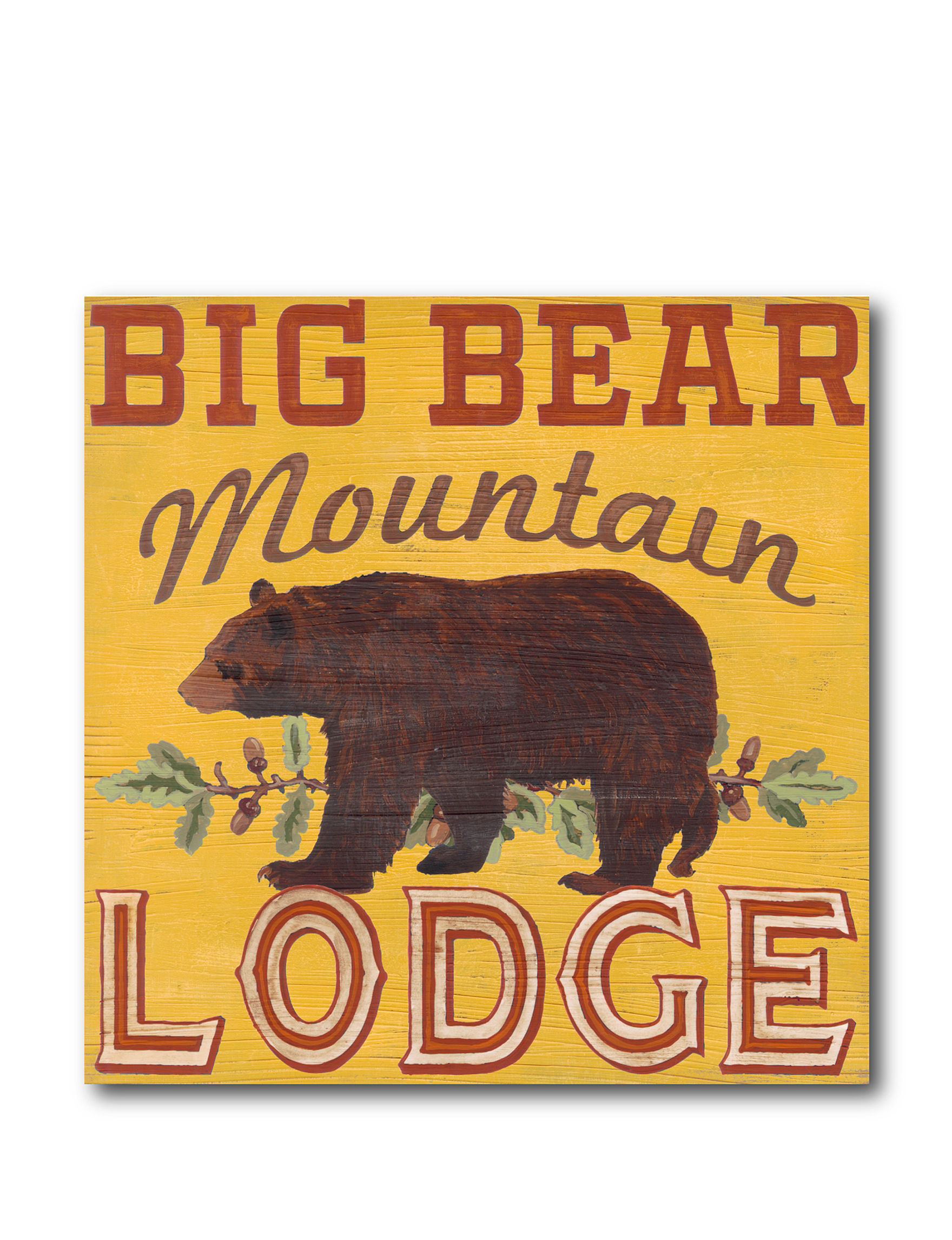 Courtside Market Mountain Lodge Canvas Wall Art   Stage Stores