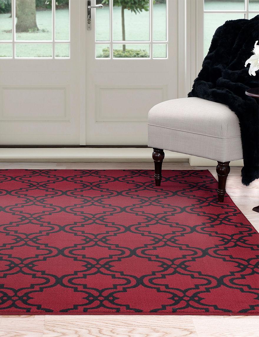 Lavish Home Red / Black Area Rugs Rugs