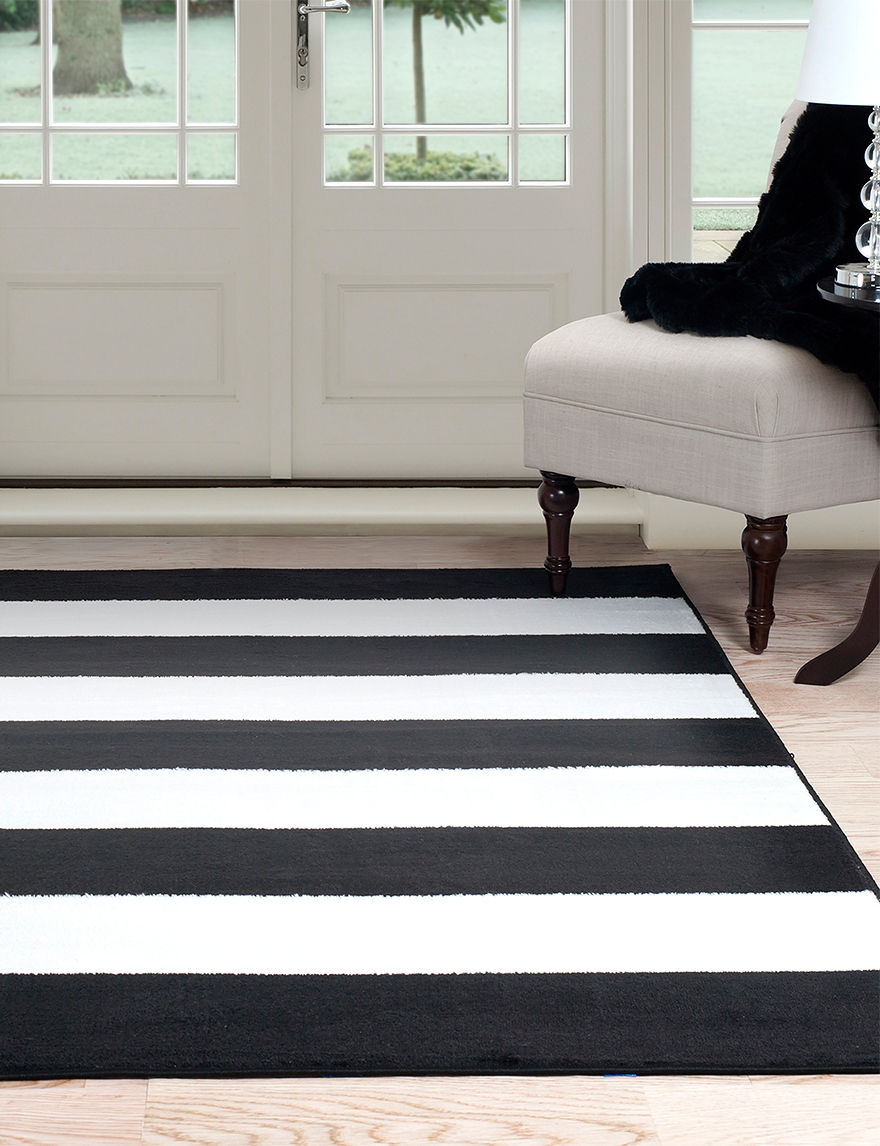 lavish home breton stripe area rug stage stores