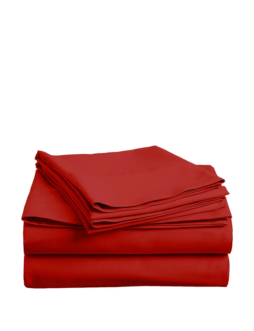 U.S. Polo Assn. Red Sheets & Pillowcases