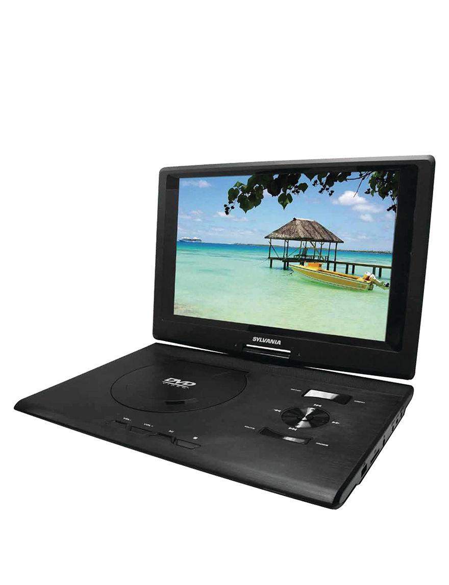 Sylvania 13.3 Inch Swivel-Screen Portable DVD Player - Black - Sylvania