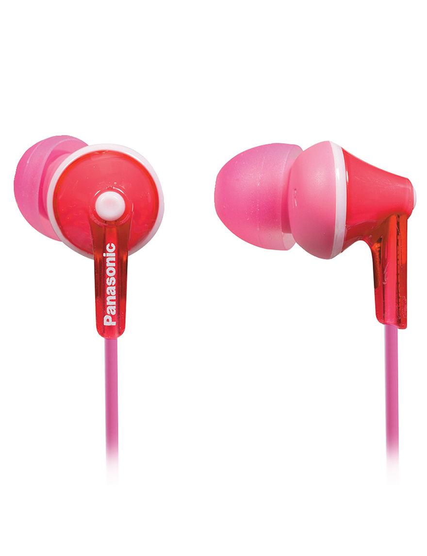 Panasonic Pink Headphones Home & Portable Audio