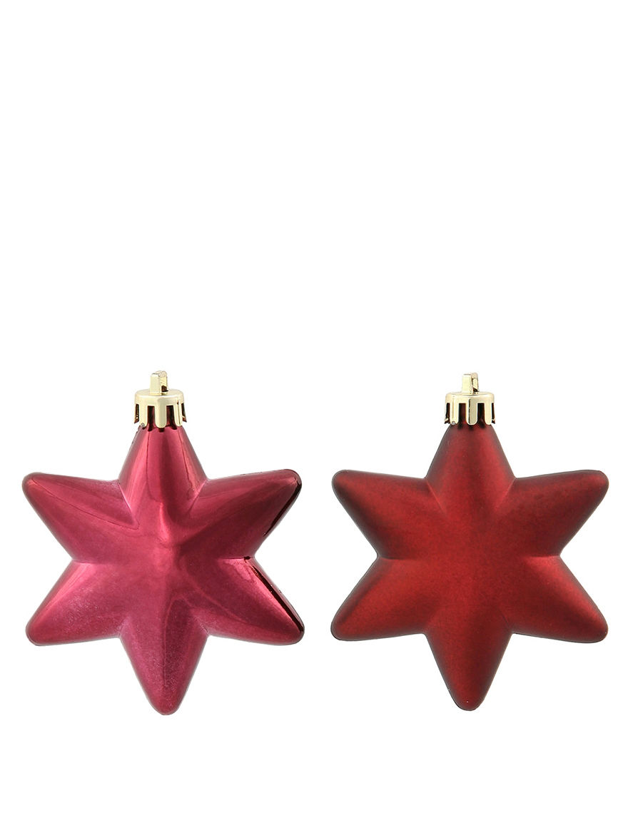 Christmas Central Burgandy Ornaments Holiday Decor