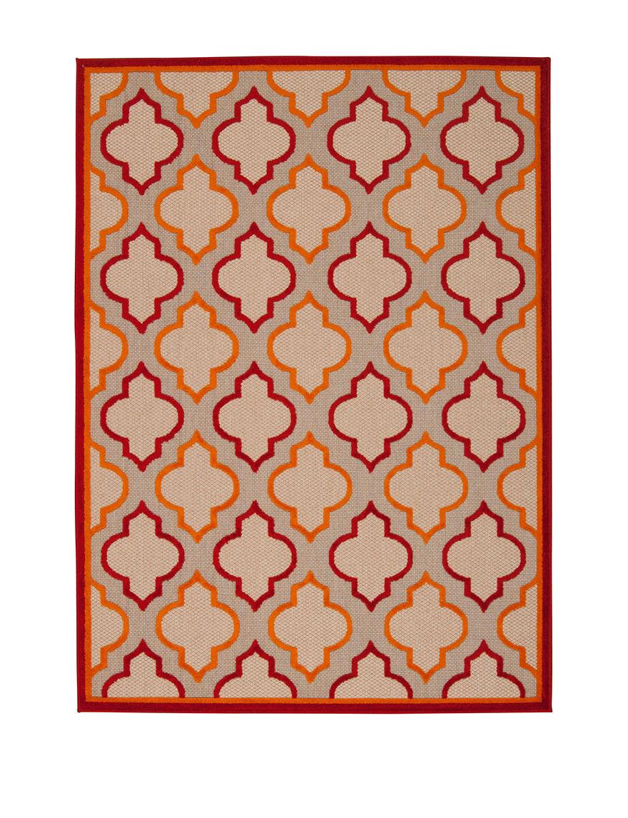Nourison Red Outdoor Rugs & Doormats Outdoor Decor