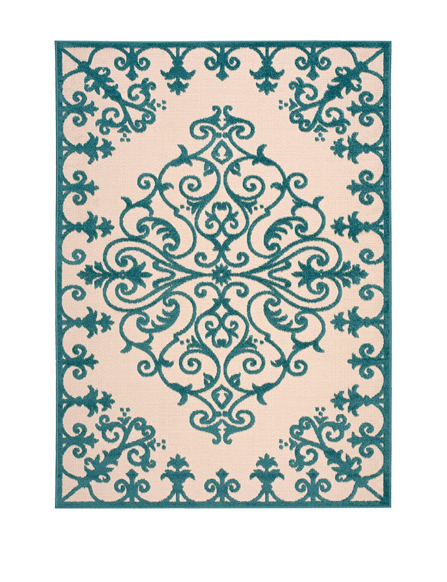 Nourison Aqua Outdoor Rugs & Doormats Outdoor Decor