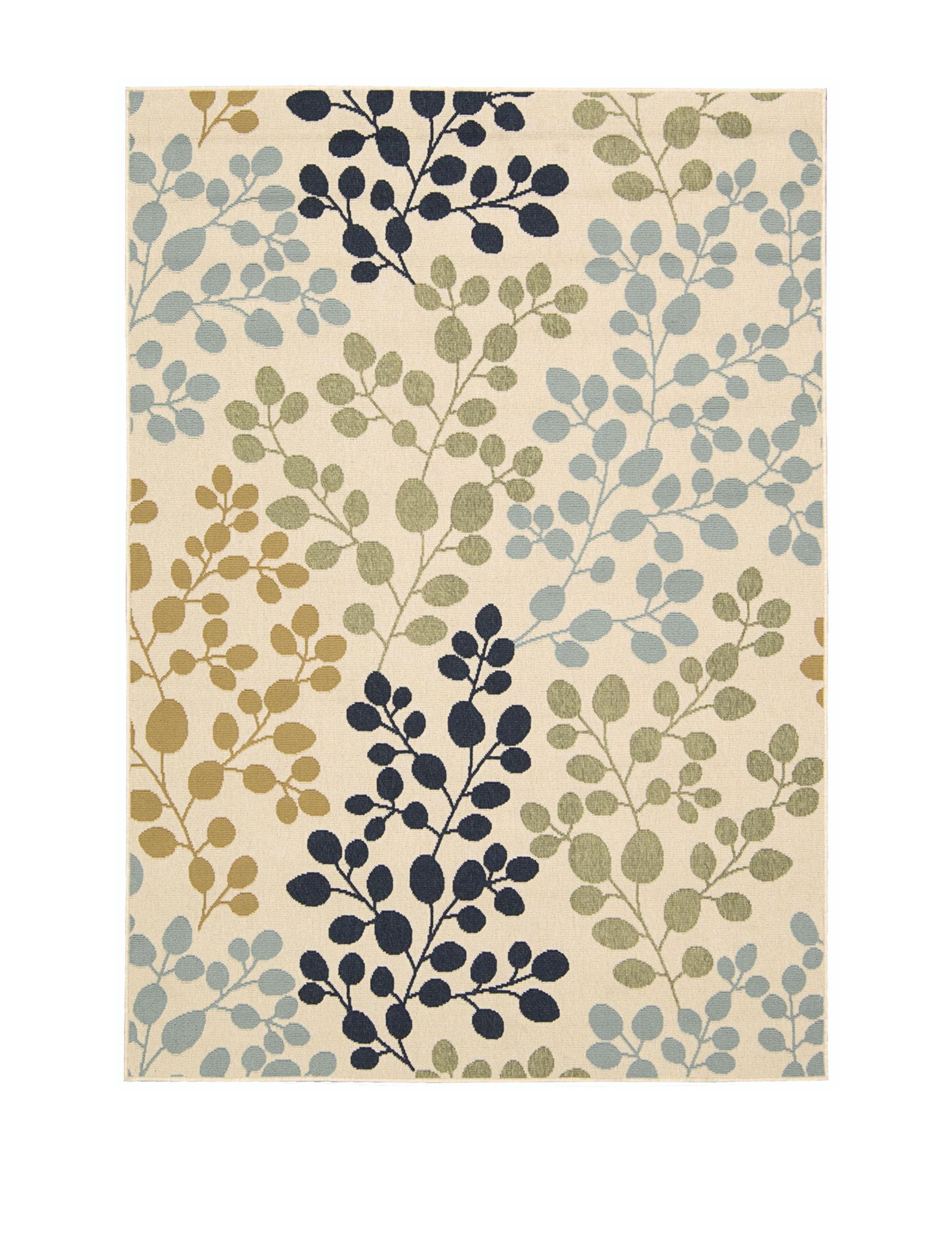 Nourison Ivory Outdoor Rugs & Doormats Outdoor Decor