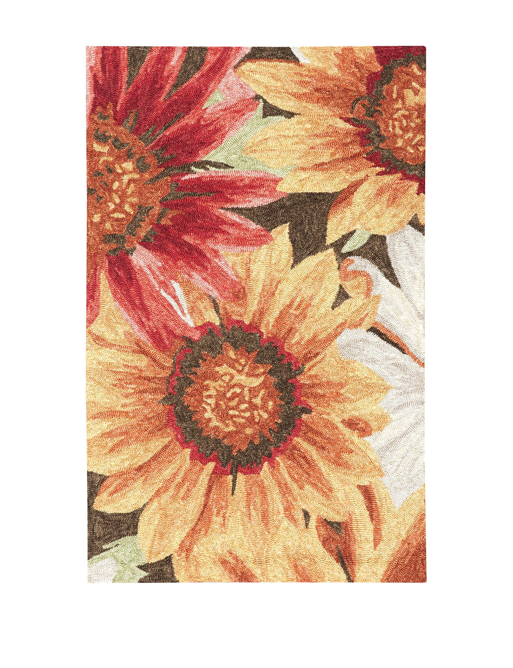 Nourison Sunflower Outdoor Rugs & Doormats Outdoor Decor