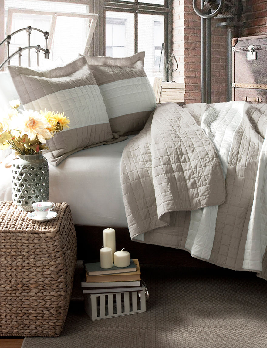 Lush Decor Taupe Quilts & Quilt Sets