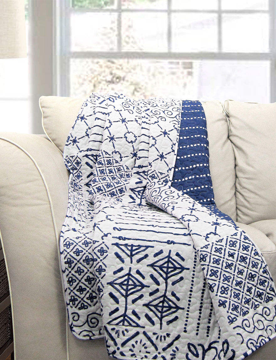 Lush Decor Blue Blankets & Throws