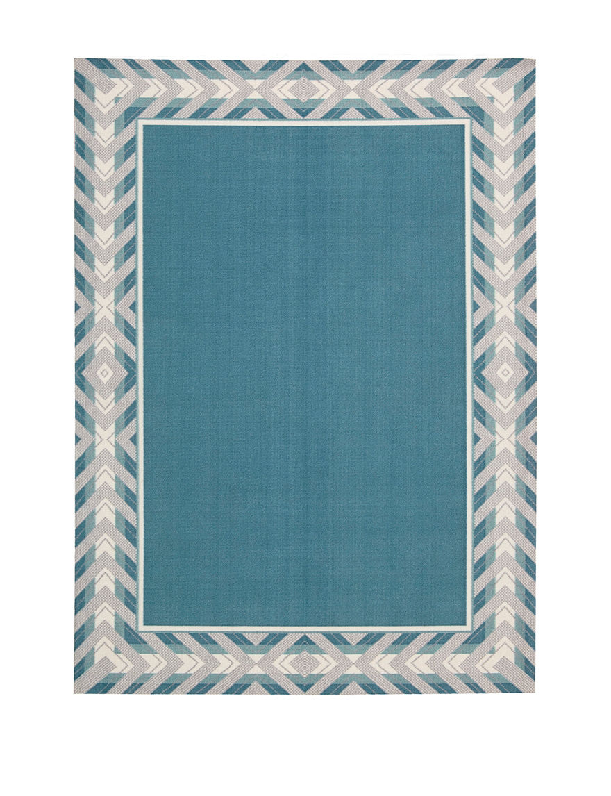 Waverly Blue Outdoor Rugs & Doormats Outdoor Decor