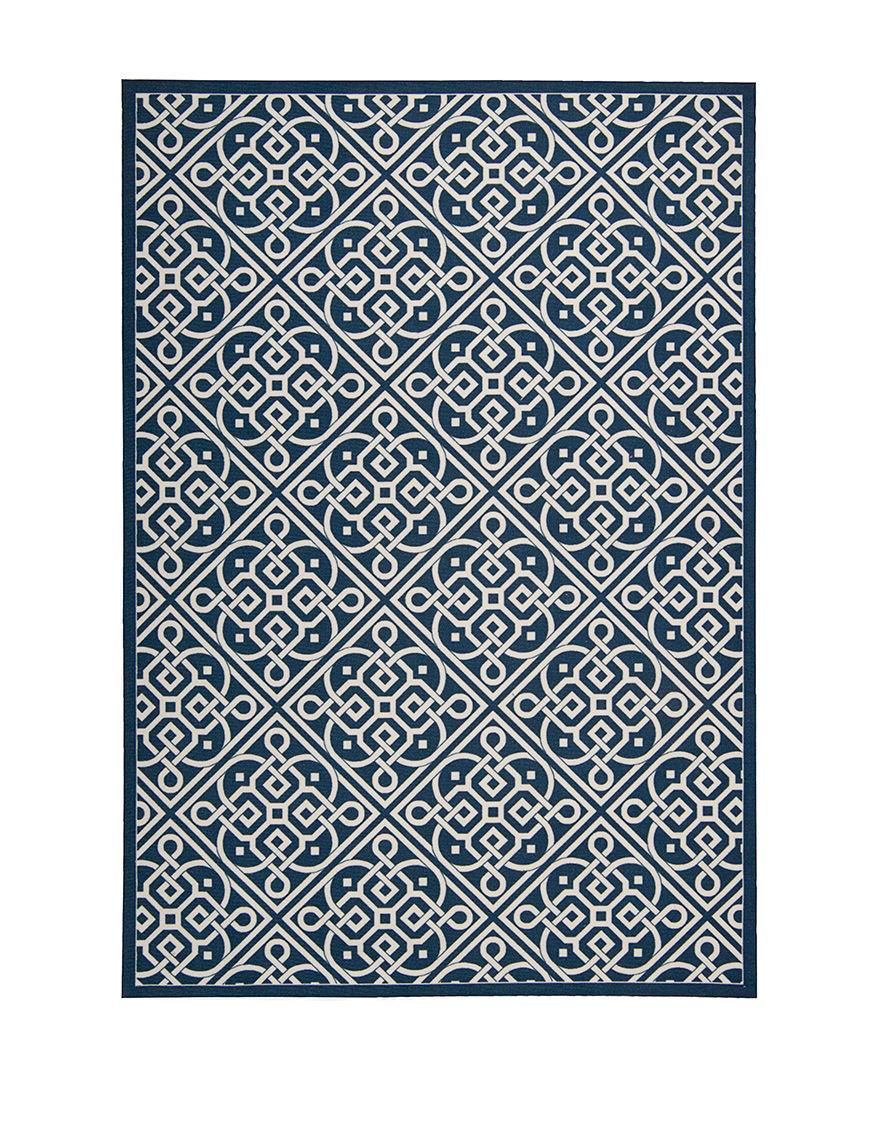 Waverly Navy Outdoor Rugs & Doormats Outdoor Decor
